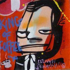 Kunstwerk: Ten Gangsters X van kunstenaar Selwyn Senatori Gangsters, Pop Art, Vans, Van, Mobsters, Art Pop