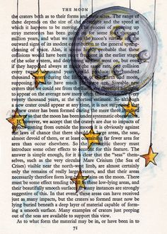 I would give you the moon and the stars ---- print of an original vintage book page drawing in 5x7 ---- reproduction of fine art