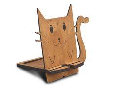 accesorio de teléfono lindo teléfono gato soporte soporte de