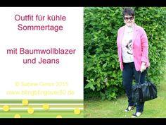 Outfit mit Baumwollblazer und Jeans