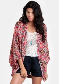 Staring at Stars Chiffon Cocoon Cardigan | Urban outfitters ...
