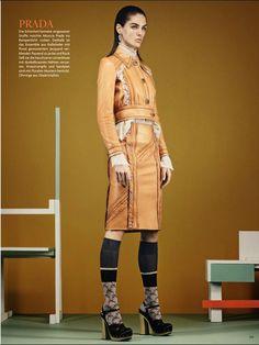 Vogue Germany January 2015 | Andreea, Hilary, Karmen, Ronja and Amanda by Giampaolo Sgura