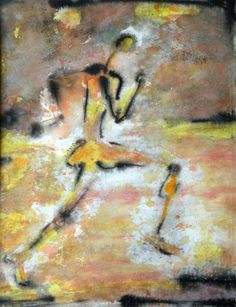 runners art | ... of the paintings in the series running man watercolor and ink on paper