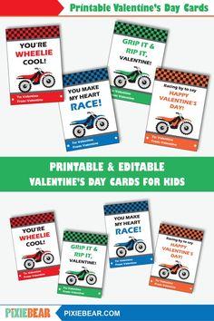 Best Indoor Garden Ideas for 2020 - Modern Printable Valentines Day Cards, Valentine Box, Valentines Day Party, Printable Cards, Party Printables, Valentine Ideas, Motocross, Printable Designs, Printable Templates
