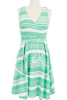 Mint Green Striped Dress - Mommy and Me size large / Lainie Day