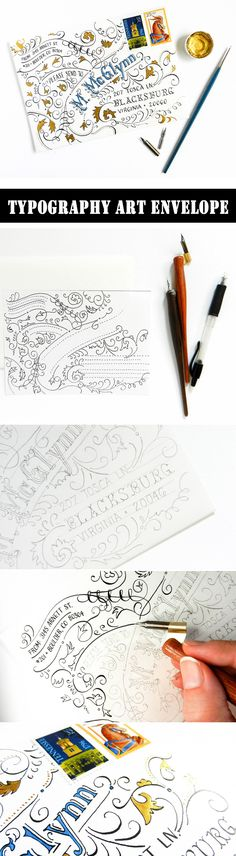 Typography Art Envelope Tutorial  #typography  #handlettering  #tutorial    https://thepostmansknock.com/typography-art-envelope-tutorial/