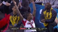 The best of March Madness GIFs: Louisville's Kevin Ware cheering on his team.