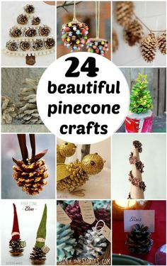 24 beautiful ways to use pinecones around the home for your festive decorating. Including tips to prep them ready for crafting too. Food Crafts, Paper Crafts, Diy Crafts, Pinecone Fire Starters, Scented Pinecones, Pine Cone Bird Feeder, Pinecone Ornaments, Pine Cone Crafts, Old Fashioned Recipes