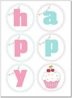 Cupcake Birthday Party FREE Printables