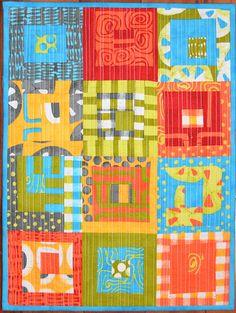 Shecanquilt blog; love the modern prints & colors