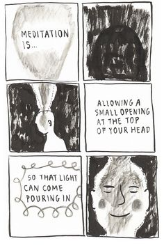 Meditation Is Allowing An Opening (1 of 2) by yumisakugawa, via Flickr. http://www.calmdownnow.com