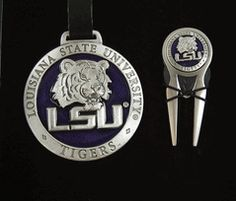 LSU Tigers 3 Piece Golf Gift Set with Pewter Logos $10.00 SPECIAL PRICE WHILE SUPPLIES LAST!