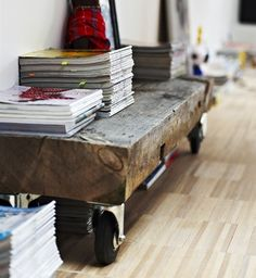 DIY- railway sleepers on castors | [room] by sofie