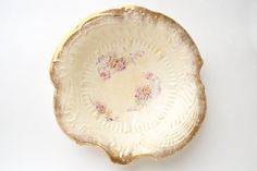 1920s La Francaise Porcelain Bowl Shabby by YellowBeeVintage