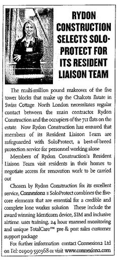 Rydon Construction Selects SoloProtect for its Resident Liaison Team