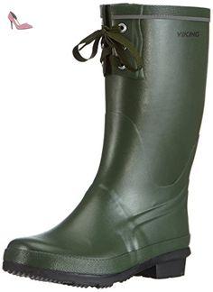 Trophy II 1-42400-4, Bottes de pluie mixte adulte - Vert (Vert-TR-H5-65), 39 EUViking