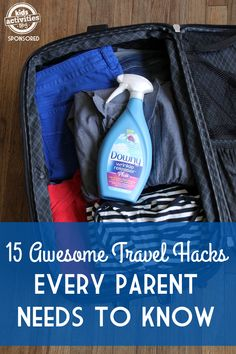 15 Awesome Travel Hacks All Parents Need To Know #mynewiron