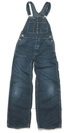 Vtg Big Ben Overalls Bib Jeans 40x29 Farming Rockabilly Costume Conductor USA