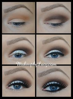Best Smoky Makeup Tutorials for Christmas Parties -- Sliver Cat Eyes