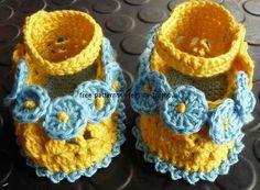FREE PATTERN baby booties crochet pattern 9