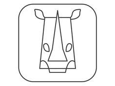 Rhino designed by Nilabh Umredkar. Rhino Logo, Cat Diet, Baby Rhino, Best Cat Food, Chicken Flavors, Cat Grooming, Cat Health, Animal Logo, Litter Box