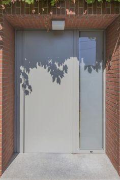 Aluminium voordeur modern ral 9007 Stabroek