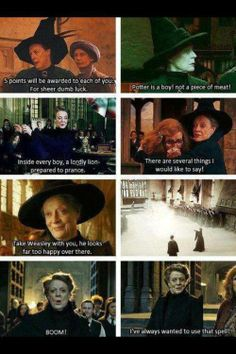 They could not have found a better actress to play her! Not in a million years! Harry Potter Memes, Harry Potter Fandom, Harry Potter World, Harry Potter Love, Maggie Smith, Decir No, Yer A Wizard Harry, Harry Potter Universal, Fandoms