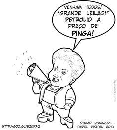"""No início eram os portugueses que roubavam todas as nossas riquezas e levavam para Europa. Hoje em dia somos nós mesmos que vendemos as nossas riquezas, a preço de banana, para quem quer seja! E assim, parte do campo de Libra, foi vendido (leia privatizado) para os estrangeiros. Realmente uma """"vergonha"""", como diz o jornalista Boris Casoy. Desta forma não importa o que façamos, sempre seremos um país de terceiro mundo!"""