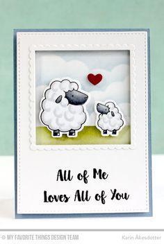 Ewe Are the Best, Love You More, Chemistry Set Die-namics, Ewe Are the Best Die-namics, Stitched Square STAX Die-namics, Stitched Mini Scallop Square STAX Die-namics - Karin Åkesdotter #mftstamps