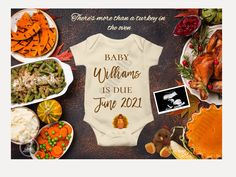 Thanksgiving Baby Announcement, Thanksgiving Pregnancy Announcement, Pregnancy Announcements, Baby Shower Fall, Baby Birth, Baby Food Recipes, Turkey, Pregnant Mom, Baby Boy