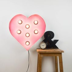 Corazón iluminado rosa | Antic&Chic