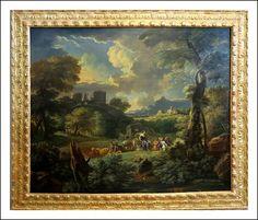 Paessaggio datato e firmato: ' Cavalier P. Tempesta 1699 fecit '