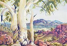 Image result for albert namatjira artwork Watercolor Landscape, Watercolour Painting, Wonderful Things, Sculpture Art, Fine Art, Artwork, September, Auction, Image