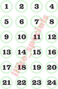 Adventskalender Zahlen Sterne mint von iLike_specials aus Berlin auf DaWanda.com