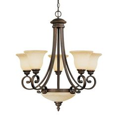 Portfolio Linkhorn 30-In 9-Light Aged Bronze Wrought Iron Tinted ...