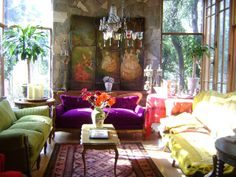 I love the different colors in this room.