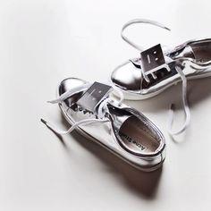 Silver chrome sneakers, Acne Studios
