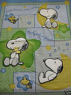 Peanuts Baby Snoopy 3-D Applique Fabric Panel