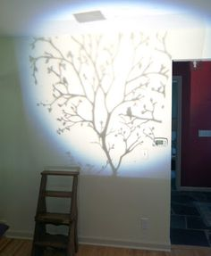 Painting A Wall Mural   Using A Projector To Help Sketch Out A Design On A Part 34
