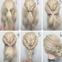 36 Amazing Simple Up Hairstyles for Long Hair Images Simple Wedding Hairstyles, Easy Hairstyles For Long Hair, My Hairstyle, Bun Hairstyles, Simple Hairdos, Trendy Hairstyles, Curly Haircuts, Popular Hairstyles, Hair Updo Easy