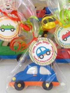 Car cookies, car party, car party favors, car cookies favors
