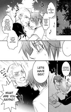 (GerIta [[MORE]] the best part is the last page = u=b Hetalia, Germany And Italy, Forbidden Love, Shounen Ai, Just Friends, Anime Ships, Doujinshi, Anime Couples, Otp