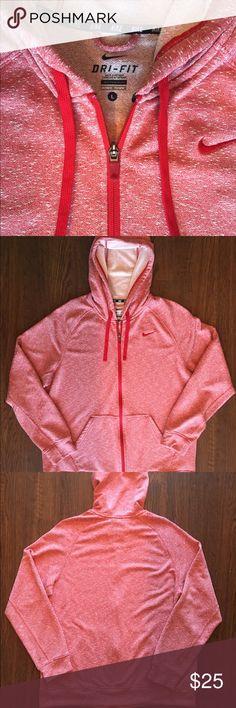 Red Nike Full Zip Hoodie Nike Dri-Fit full zip hoodie. Men size Large. $25 OBO Nike Sweaters Zip Up