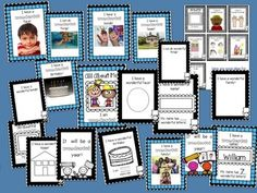 ALL ABOUT ME LETS MAKE A BOOK -  Easy beginning of the year book for little ones that are just starting to use their fine motor sills!