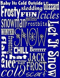 Snow Winter Subway art freebie