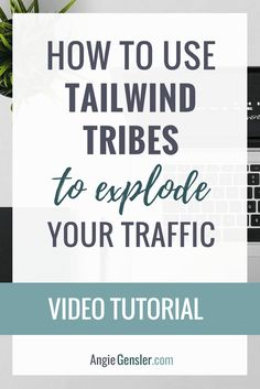 Video training on how to use Tailwind Tribes to explode your website traffic. #TailwindTribes is a free tool, quick to use, and drives traffic! via @angiegensler #pinterestmarketing