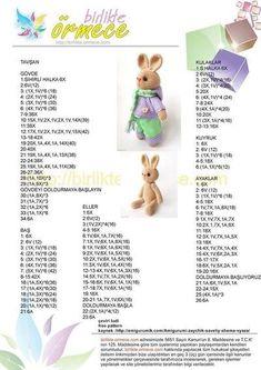Crochet Doll Amigurumi Bunny with Tiny Teddy Bear Crochet Bear Patterns, Crochet Bunny Pattern, Animal Sewing Patterns, Crochet Rabbit, Doll Patterns, Free Crochet, Amigurumi For Beginners, Diy Crafts Crochet, Easter Crochet