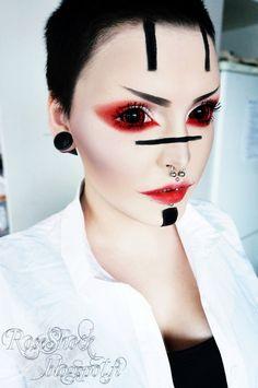 Korean Big Eye Circle Lenses: Korean Skin Care & Makeup - More in www.uniqso.com: Demons of Anime: Phantasee Red Black Sunpyre Sclera Lenses