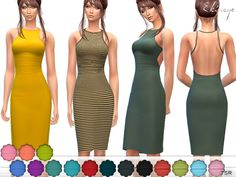 Open Back Dress by ekinege at TSR • Sims 4 Updates