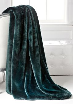 Luxury Fashion Designer Couture Dark Emerald Mink Faux Fur Throw, Life Like Animal Fur Blankets, So Glamorous and Stylish. Check out more trending designer furniture, home decor, accents and gifts from Hollywood courtesy of InStyle Decor Beverly Hills, see our online store for over 3,500 inspirations to enjoy, pin, blog, share and inspire your friends and followers with our easy 1 Click Pinterest Pin Button enjoy & happy pinning